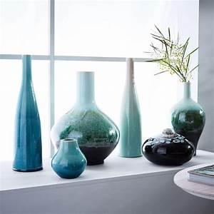 Vase Bleu Canard : reactive glaze vases west elm uk ~ Melissatoandfro.com Idées de Décoration