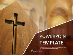 Free Powerpoint Template Crucifix In Church