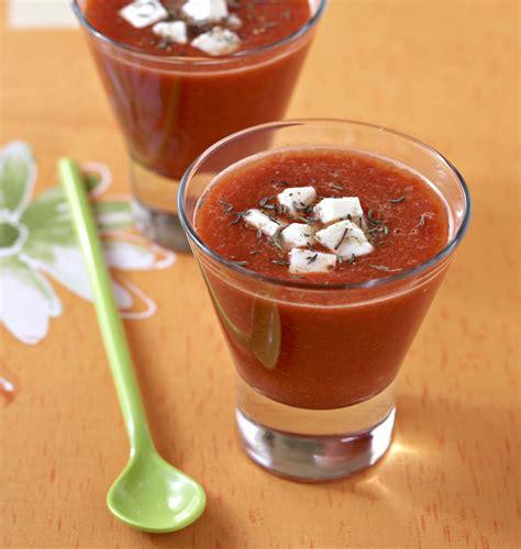 concours cuisine gaspacho de tomates et poivrons à la feta les meilleures