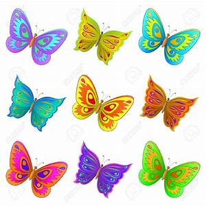 Colorful Flying Butterfly Clipart | www.pixshark.com ...