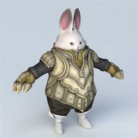 Rabbit Warrior 3d model 3ds Max files free download