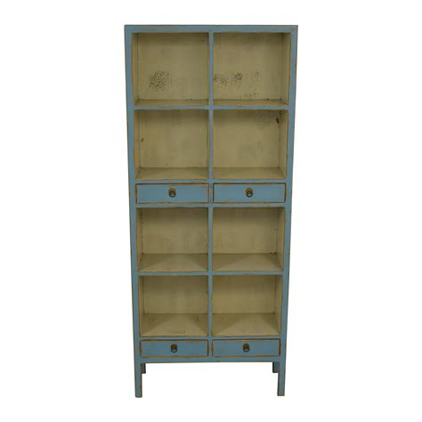 Light Blue Bookcase by 78 One One Safavieh Light
