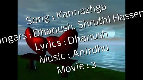 Kannazhaga Song Lyrics Youtube