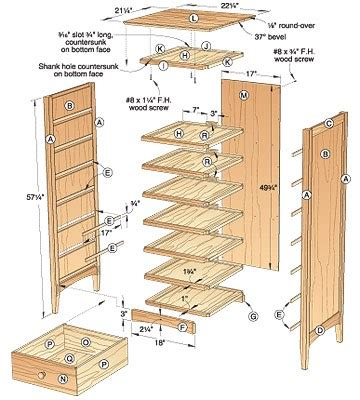 bench wood  woodworking plans chest  drawers
