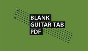 Blank Guitar Tab Paper Download Free Pdf