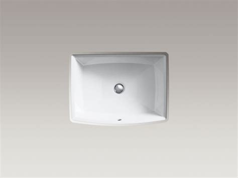 standard plumbing supply product kohler k 2355 0 archer undermount bathroom sink white