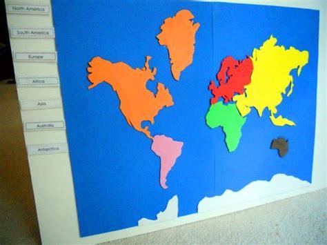 Make A Montessori Continent Map