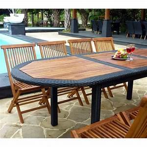 Salon De Jardin En Teck En Promotion : mobilier jardin teck rotin accueil design et mobilier ~ Teatrodelosmanantiales.com Idées de Décoration