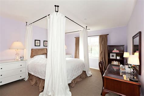 Canopy Bed Created By Mounting Curtains To Ceiling. Ikea Curtains And Rods Were Used. English Country Garden Curtains Burlap Curtain Panels Diy Wooden Rod Brackets Kirsch Rods Instructions Blue Beige Striped What Color Go Well With Gray Walls Pink And Grey For Bedroom