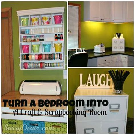 organizing your craft room on a budget vintage paint transforming a bedroom into a craft scrapbooking room