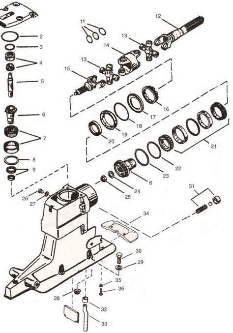 Mercruiser Lower Unit Diagram by Alpha 1 2 Unit Parts Diagram