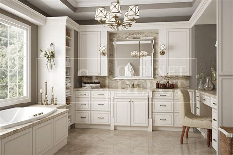 york antique white  cabinet depot