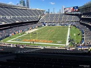 football defensive chart soldier field section 320 chicago bears rateyourseats com