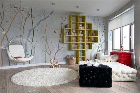 appealing teen bedroom design  interesting wallpaper