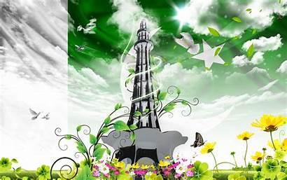 Pakistan Flag Minar Wallpapers August Sky Desktop
