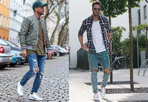 Mens Fashion Ripped Jeans The Rugged Male