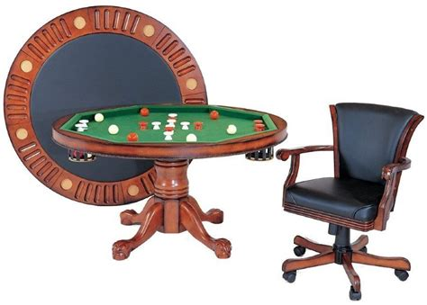 54 Quot Round 3 In 1 Game Table 4 Chairs Bumper Pool Poker