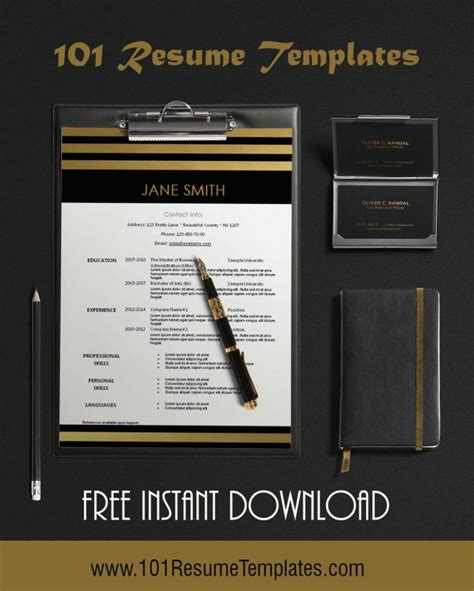 Resume Templates 101 by Free Modern Resume Template