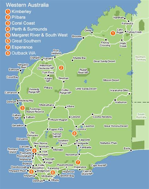 road map  western australia australia australia