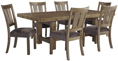 rectangle dining room table  leaf  signature design  ashley wolf  gardiner wolf furniture