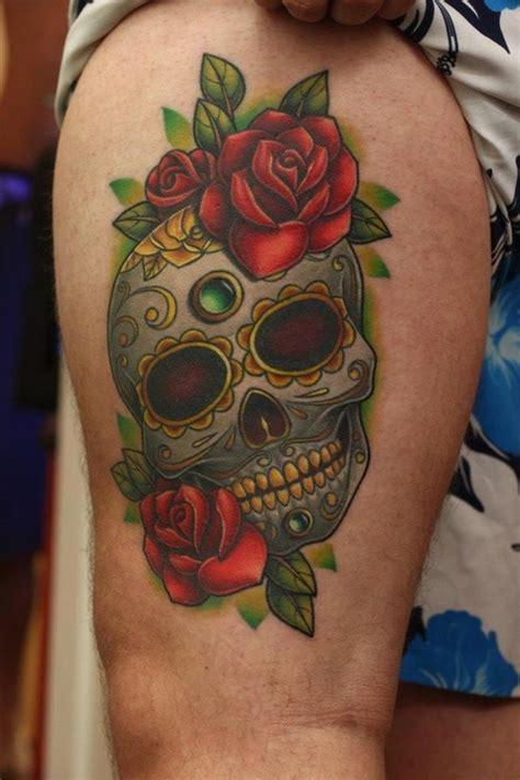 skull  roses tattoos designs ideas  meaning