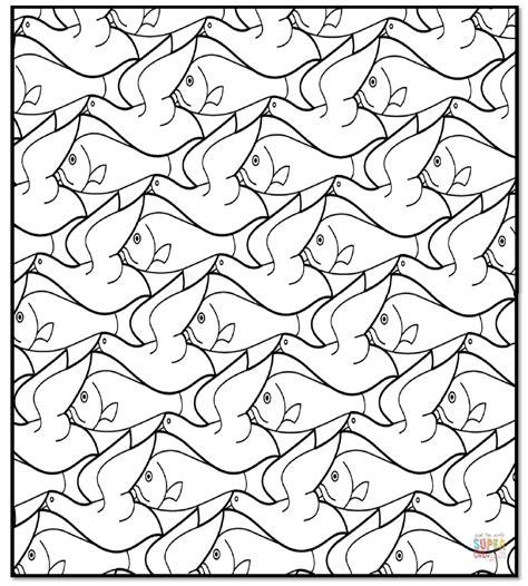 Escher Vogel Kleurplaat by Pin Kleurplaat Escher Knutselen On
