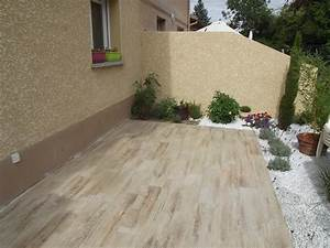 carrelage de terrasse imitation bois dootdadoocom With photo de terrasse en carrelage