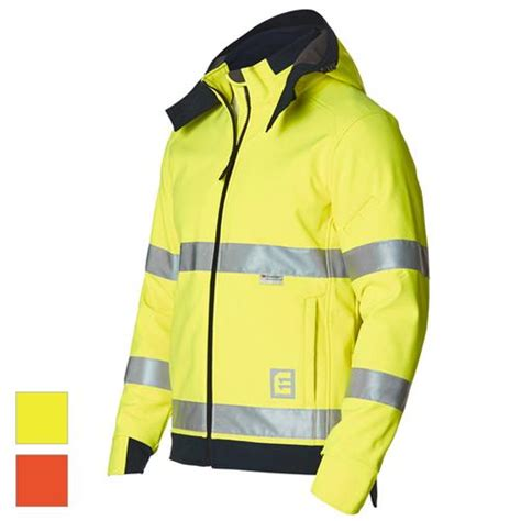 eleven workwear  vis bio motion taped soft shell jacket