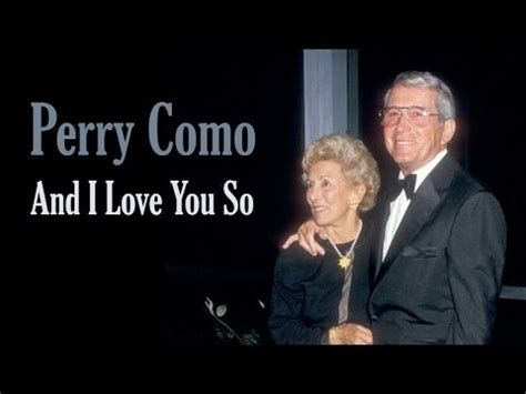 perry como i want to give lyrics perry como and i love you so doovi