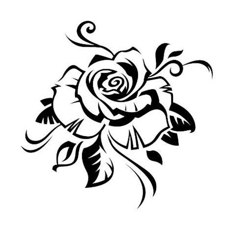 pochoir tatouage temporaire rose fleur  uniktattoo