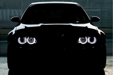 bmw   projector type headlights led angel eyes kit