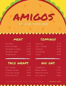 Customizable Planner Template Customize 69 Mexican Menu Templates Online Canva