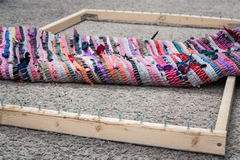 rag rug loom for how to make a rag rug loom with pictures ehow