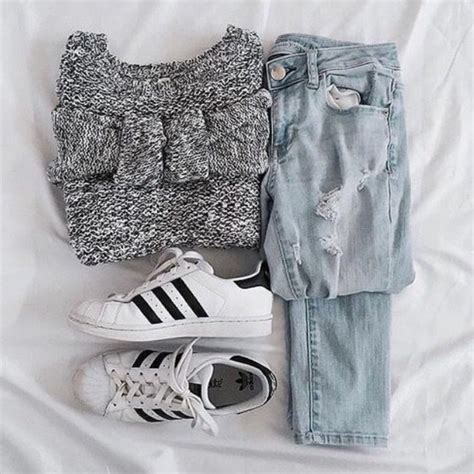 Sweater jumper pinterest cute tumblr pinterest outfit jeans adidas shoes adidas ...