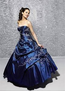 A wedding addict a line dark blue layer tail strapless for Dark blue wedding dress