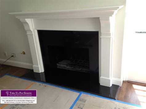 quartz fireplace surround ultimate black quartz take us for granite
