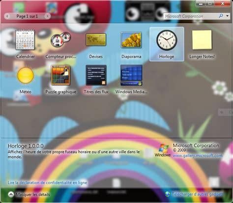 afficher un gadget horloge sur le bureau de windows 7 lecoindunet