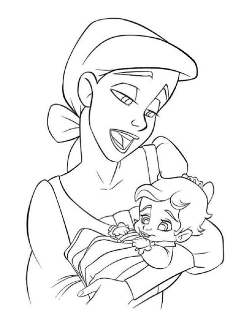 Baby Ariel And Melody Coloring Pages Mermaid coloring