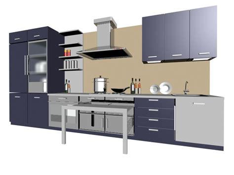 3d kitchen design free single line kitchen cabinet 3d model 3dsmax files free 7343