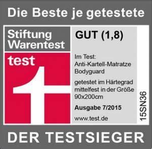 Beste Getestete Matratze : bodyguard stiftung warentest testsieger detailtest mit 6 ~ Watch28wear.com Haus und Dekorationen