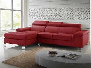 canape d39angle gauche cuir rouge mishima canape vente With canape angle cuir rouge pas cher