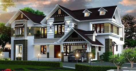 sq ft double floor contemporary home designs