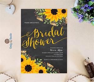 chalkboard sunflower bridal shower invitation printed on With inexpensive sunflower wedding invitations