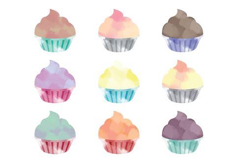 clipart vectors vector watercolor cupcakes free vector