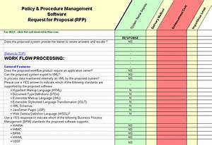 Policy management software selection rfp for Sample workflow document