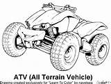 Four Wheelers Drawing Coloring Quad Pages Getdrawings Print sketch template