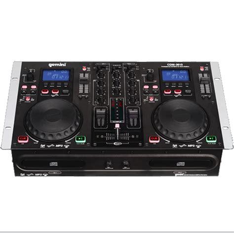 console gemini gemini cdm 3610 dual mp3 cd mixing console