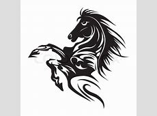 Horse tattoo symbol new year for design isolated vector