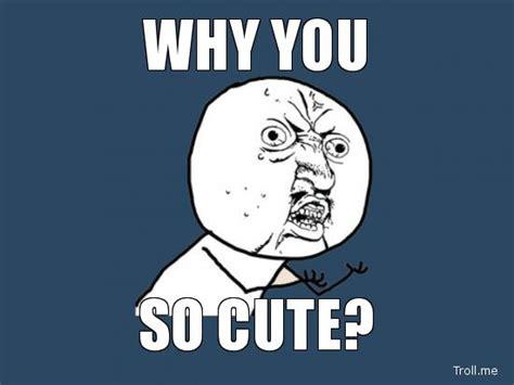 So Cute Meme - why you so cute meme geek prime