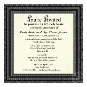 post wedding reception invitation With examples of post wedding reception invitations